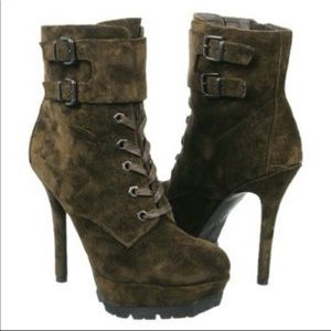 Sam Edelman Vancouver Military green  boots size 9